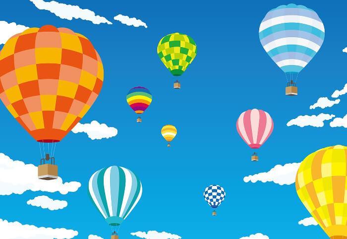 たくさんのカラフル気球