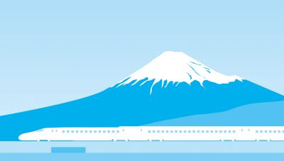 shinkansen and fuji