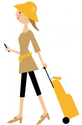 lady carrying bag